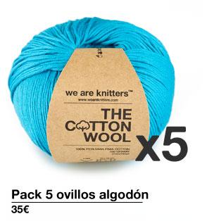 Pack 5 ovillos algodón